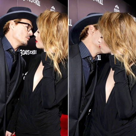 Amber Heard Kissing Johnny Depp Young