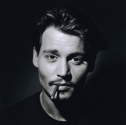 Johnny Depp Johnny Depp In Black And White Young