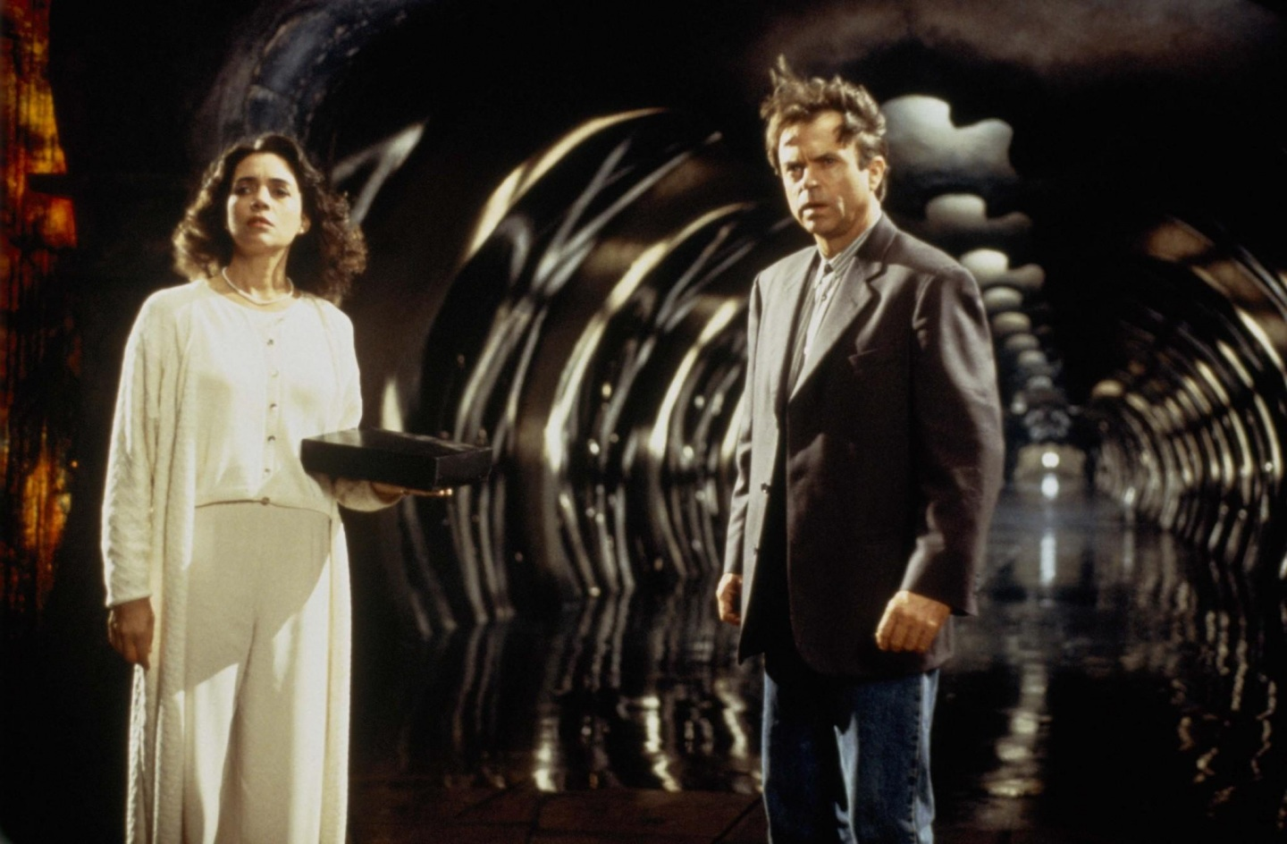 Still Of Sam Neill And Julie Carmen In In The Mouth Of Madness