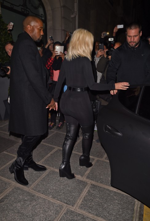 March Kim Kardashian And Kanye West Heading To The Givenchy Fallwinter Fashion Show In Paris