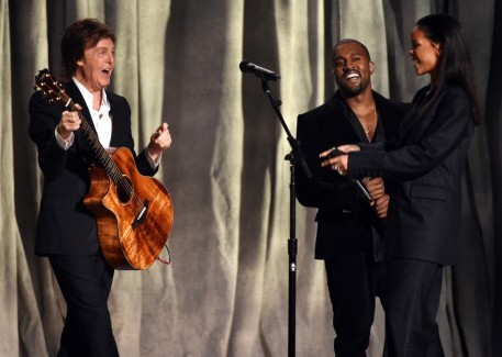 Paul Mccartney Kanye West Rihanna Grammys Cc Af