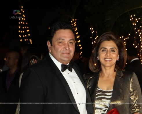 Rishi Kapoor With Wife Neetu Singh At Karan Johar Th Birthday Karan Johar