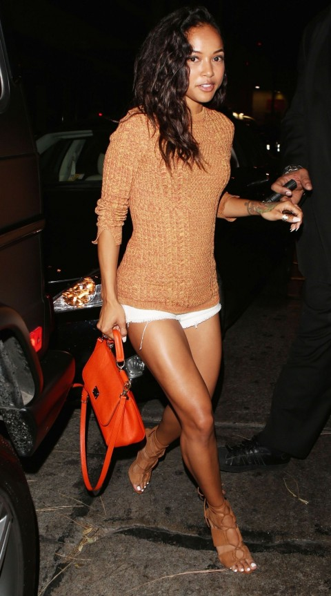 Karrueche Tran Night Out Style Leaving Hooray Henry In West Hollywood March Tv