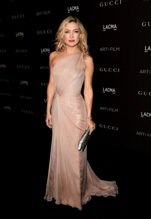 Kate Hudson Arrives At The Lacma Art Film Gala In Pale Pink Gucci Gown My Face Hunter Gk Fashion
