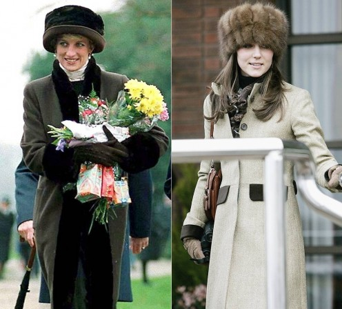 Lady Diana Kate Middleton Style Fur Hats Bes Fashion