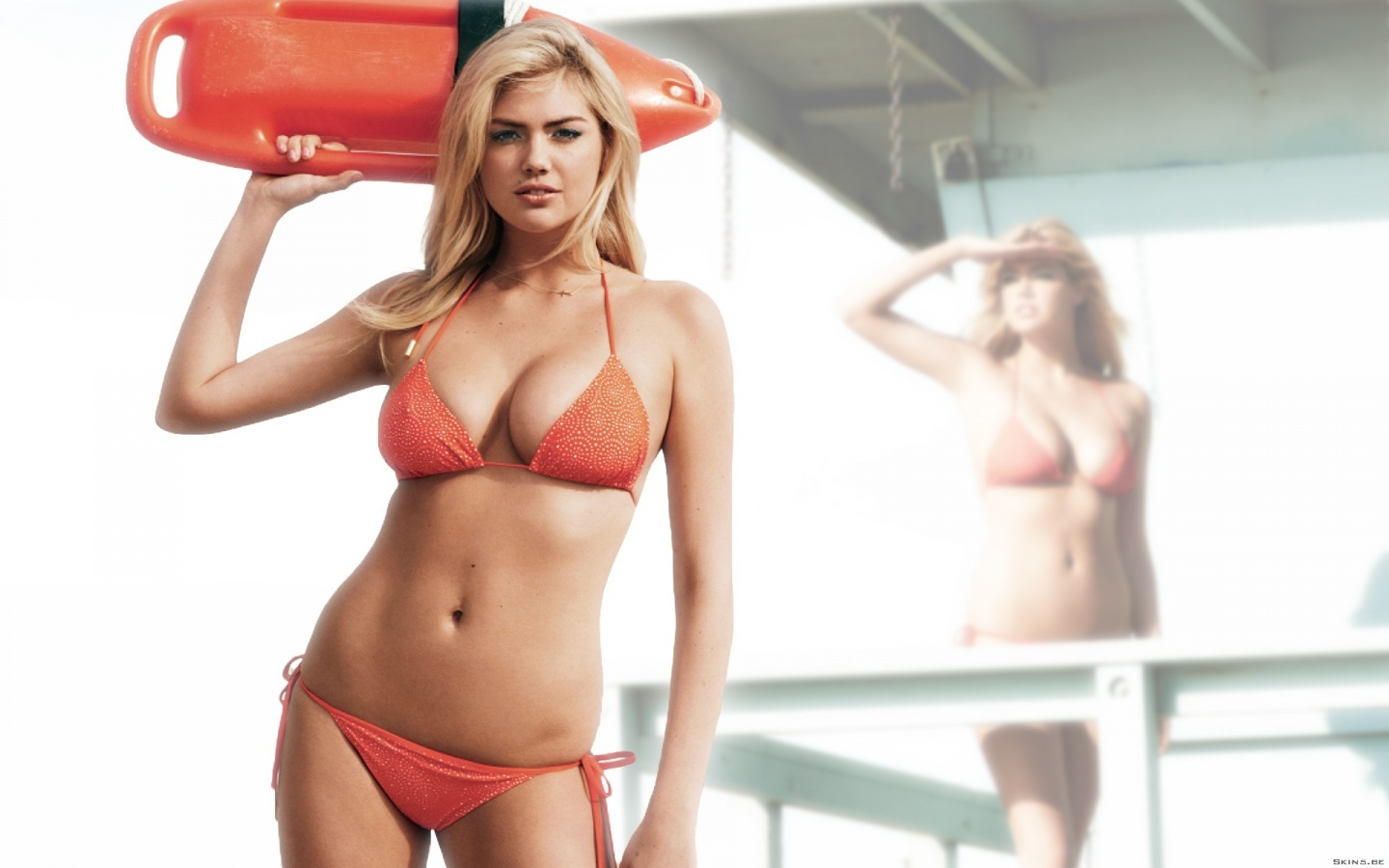 Kate Upton In Red Bikini Tv