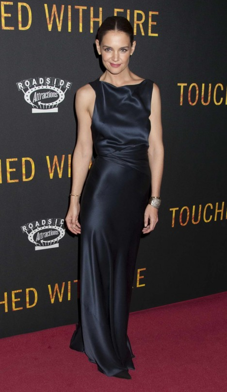 Katie Holmes At Touched With Fire Premiere In Nyc Katie Holmes