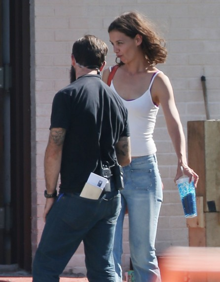Katie Holmes Filming On The Set Of All We Had In New York