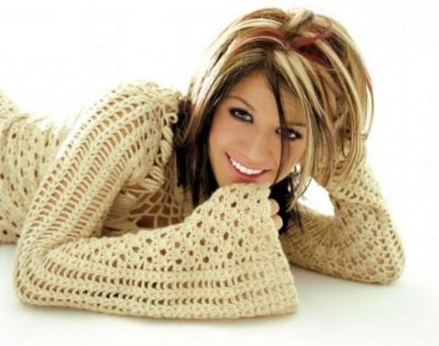Kelly Clarkson Brown Hair With Blonde Hig Ights Now