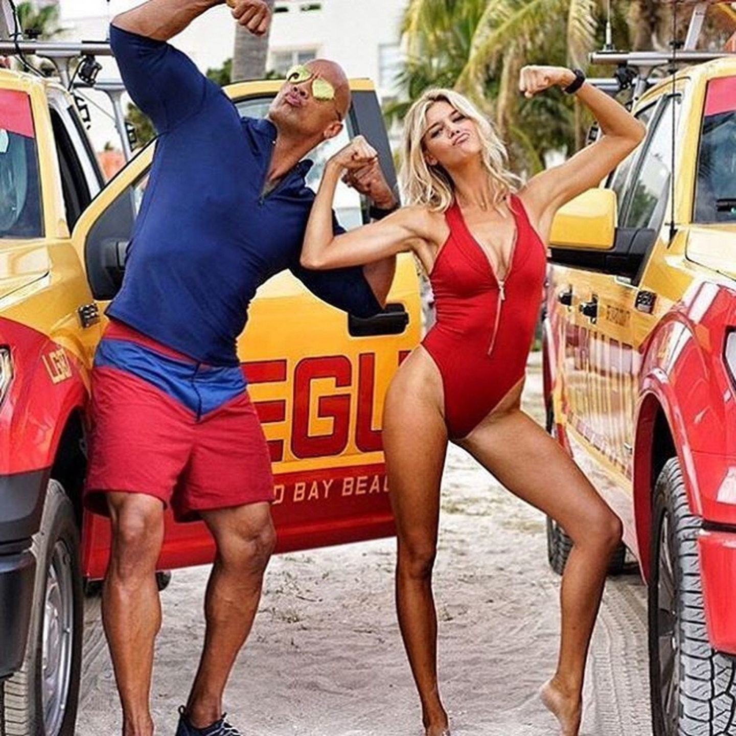 Kelly Rohrbach Dwayne Johnson Baywatch Kelly Rohrbach