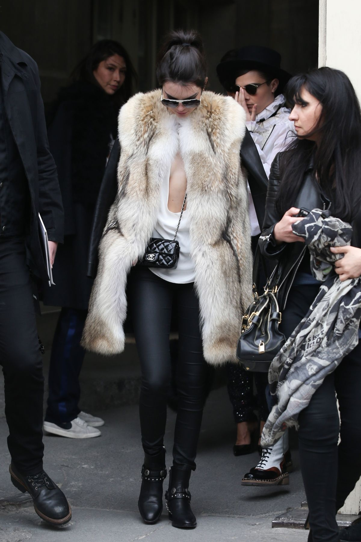 Kendall Jenner And Cara Delevingne Leaving Chanel Show In Paris