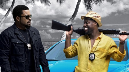 Ice Cube And Kevin Hart In Ride Along Poster Wallpaper