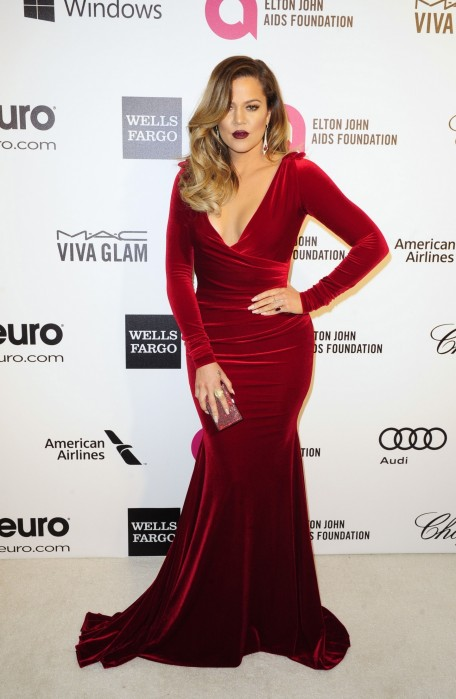 Oe Kardashian Red Dress Reuters Oe Kardashian