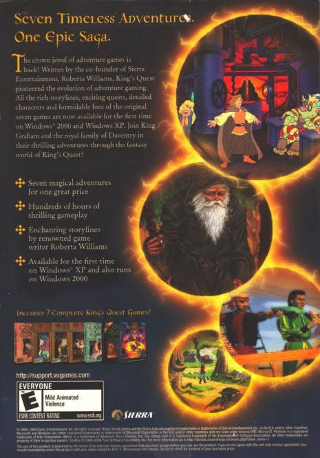 King Quest Collection Windows Back Cover King Quest Collection