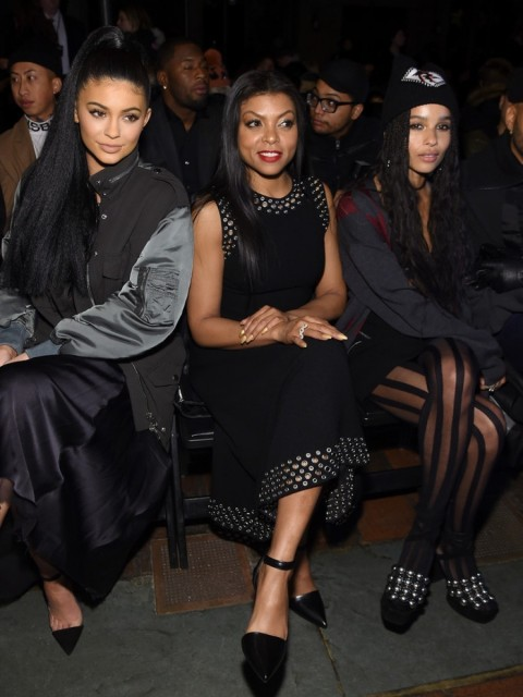 Alexander Wang Front Row Fall New York Kylie Jenner Zoe Kravitz Kylie Jenner Kylie Jenner