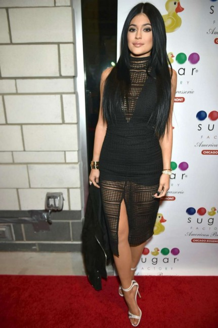 Kylie Jenner Sugar Factory American Brasseries Grand Opening Kylie Jenner