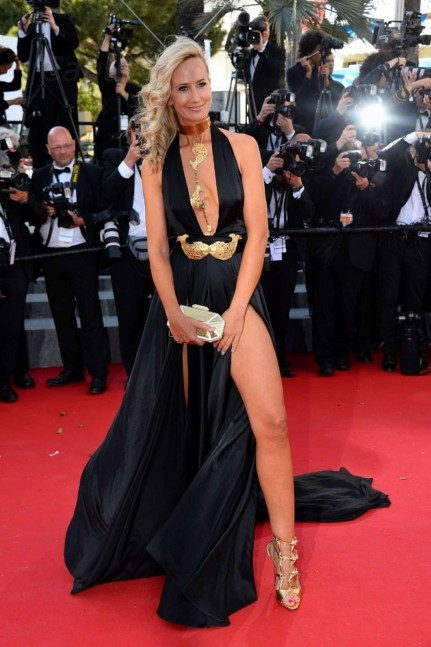 Lady Victoria Hervey Ng On Red Carpet At Cannes