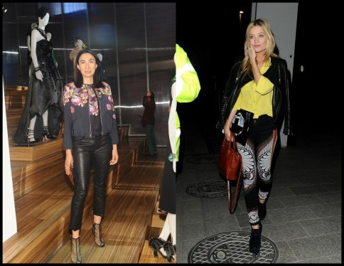 Anh Duong Leather Pants Laura Whitmore Print Pants Laura Whitmore