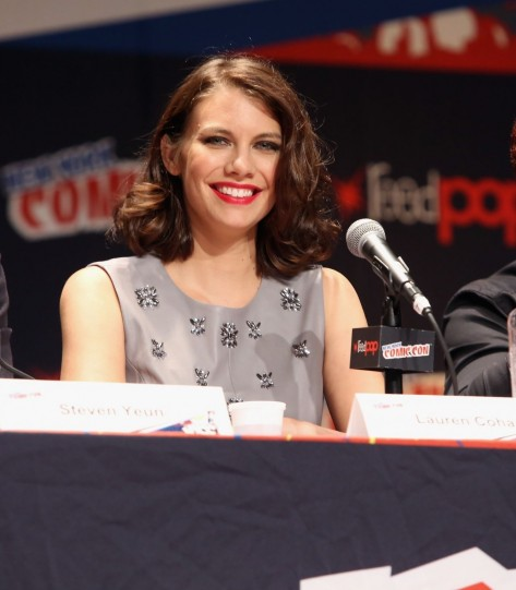 Lauren Cohan Promoting The Walking Dead At Nycc Lauren Cohan