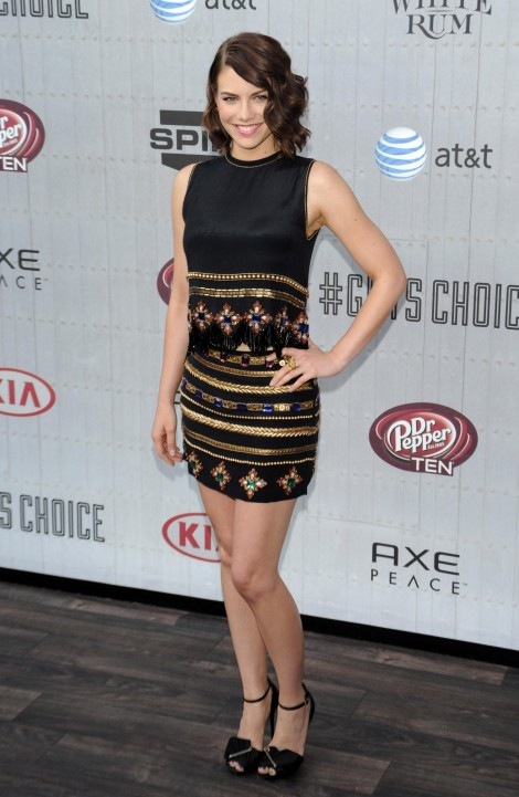 Lauren Cohan Spike Tvs Guys Choice Awards Lauren Cohan