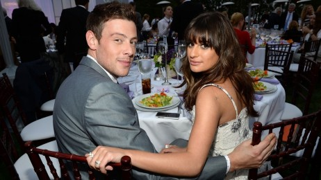 Cory Monteith And Lea Michele And Cory Monteith Coffin