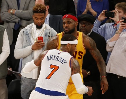 New York Knicks Take On Lebron James And The Cleveland Cavaliers Cb Eaf Wife