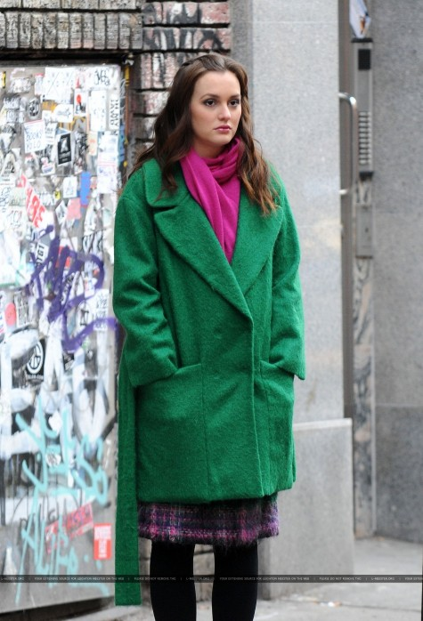 Leighton Meester On The Gossip Girl Set December Leighton Meester