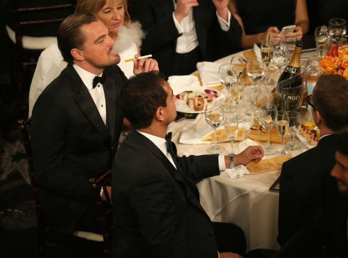 Leonardo Dicaprio At The Golden Globes Large Image Hot