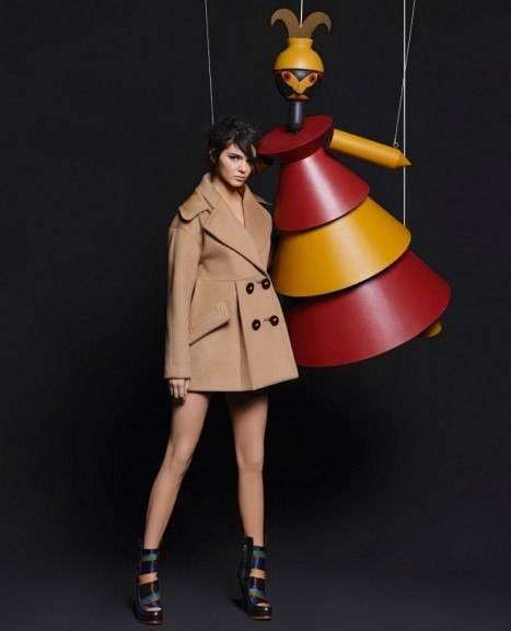 Kendall Jenner Lily Donaldson For Fendi Fall Winter Ad Campaign Lily Donaldson