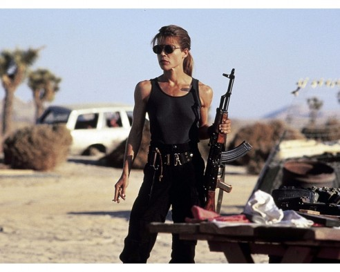 Terminator Linda Hamilton Sarah Connor Wallpaper Body