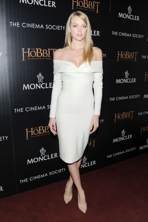 Lindsay Ellingson The Hobbit The Desolation Of Smaug Screening In New York City Movies