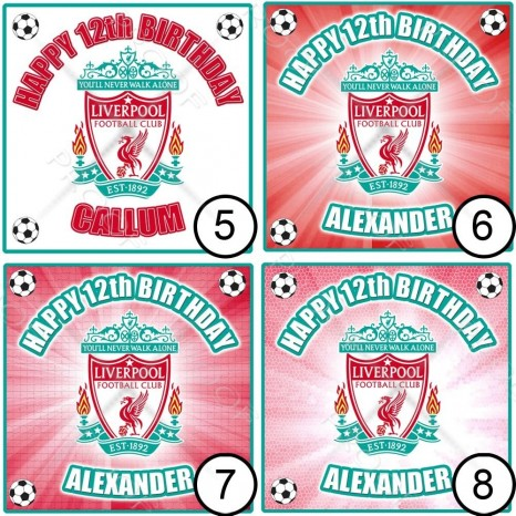 Liverpool Badge Cm Small Square Icing Picture Liverpool