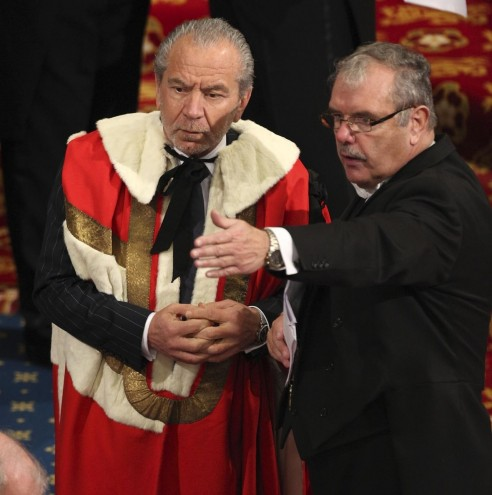 Gallery Showbiz Lord Sugar House Lords Peerage Ceremony House