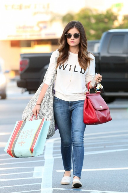Lucy Out In Studio City June Th Lucy Hale