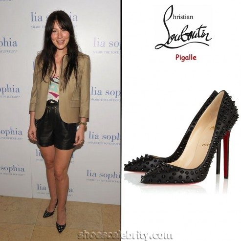 Lynn Collins Christian Louboutin Pigalle Studded Pumps Lynn Collins