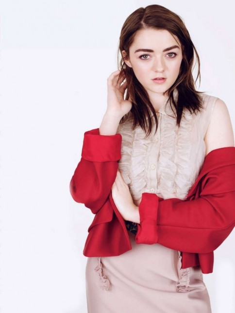 Maisie Williams Poses For Glamour Uk Magazine May Beach