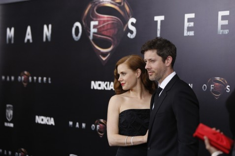 Cast Member Amy Adams Arrives With Actor Darren Le Gallo For The World Premiere Of The Film Man Of Steel In New York June Man Of Steel