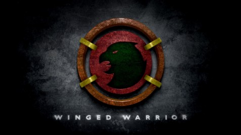 Hawkman Winged Warrior Logo In The Style Of Man Of Steel Logo