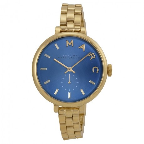 Marc By Marc Jacobs Sally Blue Dial Goldtone Ladies Watch Mbm Marc Jacobs