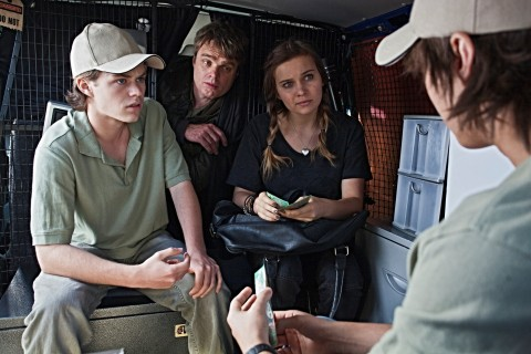 Ep Cal Harrison Gilbertson Winter Marny Kennedy And Boges Taylor Glockner Discuss Strategy In Nelsons Damien Richardson Van Photo By Bill Bachman Lo