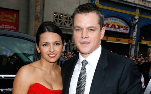 Matt Damon Luciana Renew Vows Ftr Family