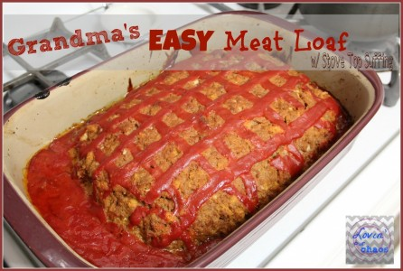 Grandmas Easy Meat Loaf With Stove Top Stuffing Cooking