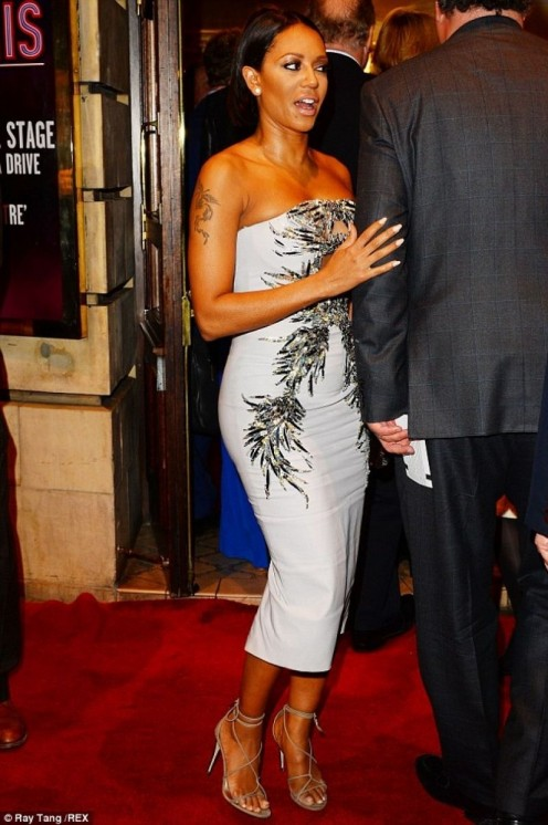 Mel Walked On The Red Carpet At The Opening Night Of Memphis The Musical In London Music