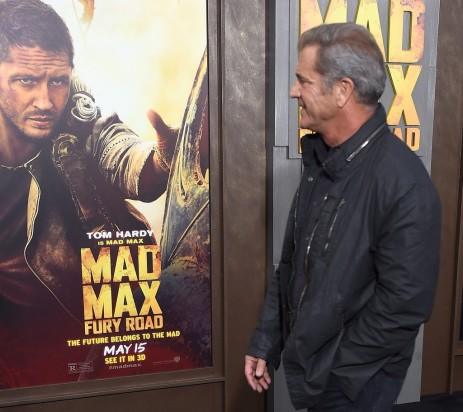 Mad Max Fury Road Mel Gibson Looking At Tom Hardy Poster