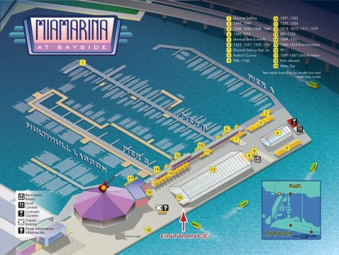 Strictly Sail Miami Layout Location