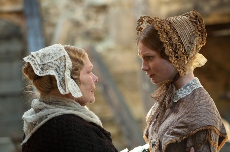 Still Of Judi Dench And Mia Wasikowska In Jane Eyre Large Picture And Michael Fassbender