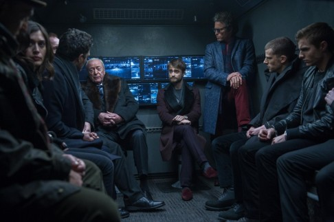 Michael Caine Jesse Eisenberg Daniel Radcliffe And Dave Franco In Now You See Me Michael Caine