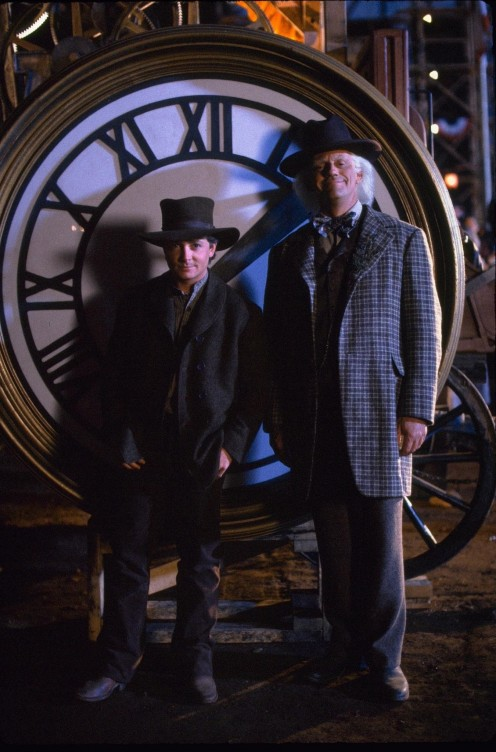 Still Of Michael J Fox And Christopher Lloyd In Back To The Future Part Iii Large Picture Christopher Lloyd