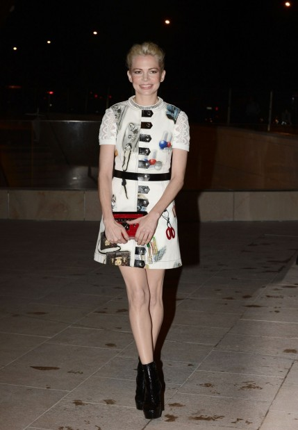 Michelle Williams In France Foundation Louis Vuitton Opening In Boulogne Billancourt Michelle Williams