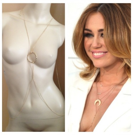 Miley Cyrus Waist Ring Body Chain Body